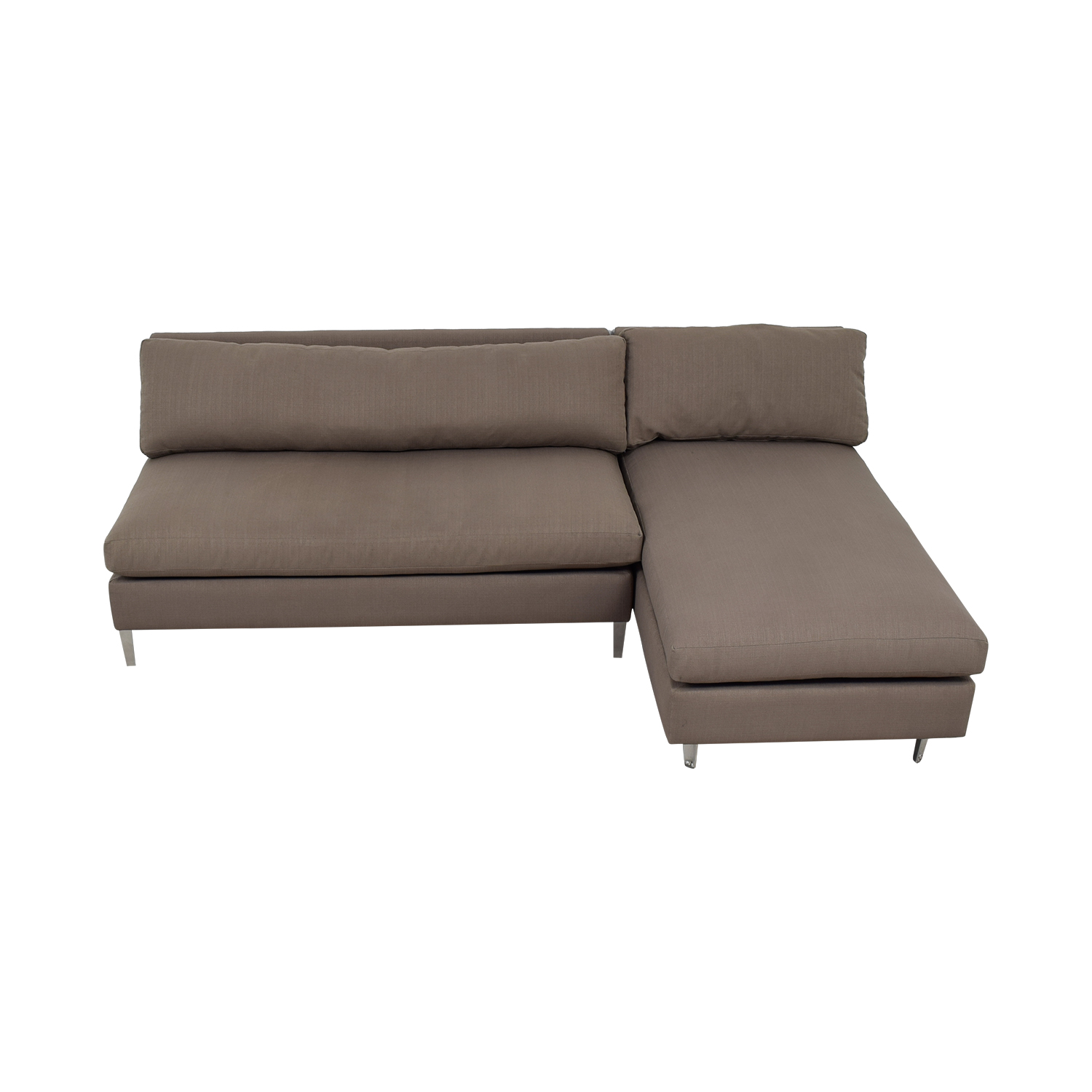 CB2 CB2 Grey No Arms Chaise Sectional used