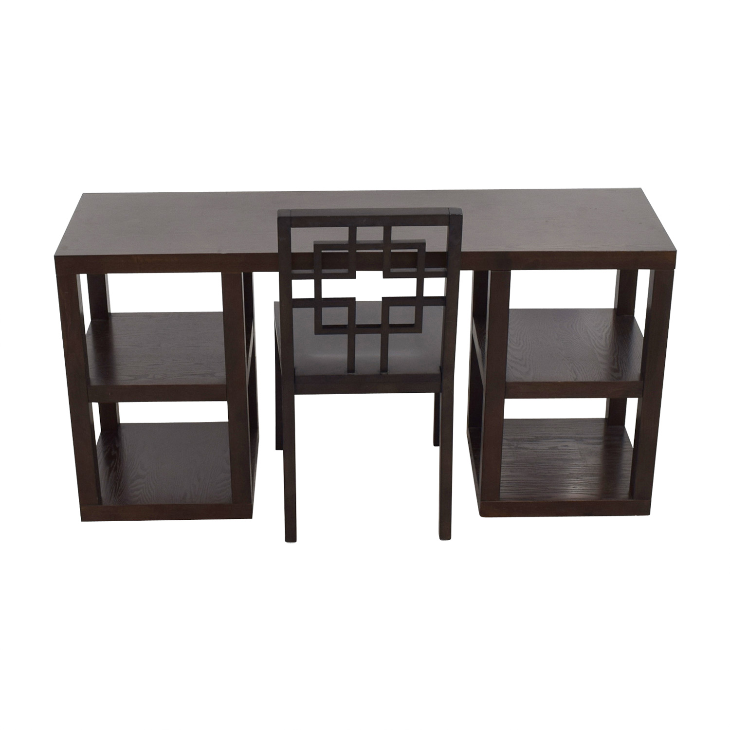 West Elm Wood Desk with Shelves and Chair / Sofas