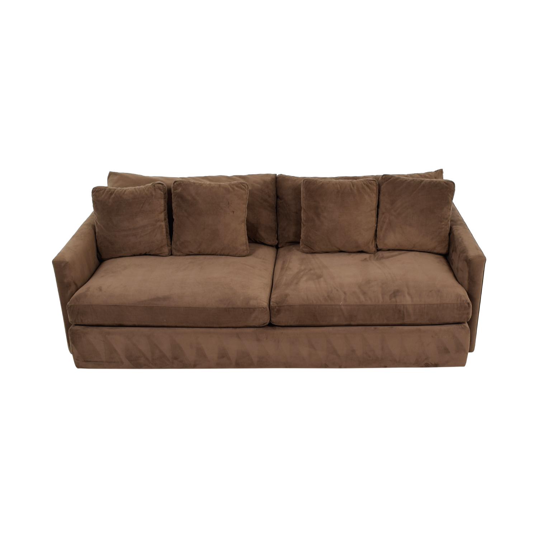 Crate & Barrel Brown Two-Cushion Sofa Crate & Barrel