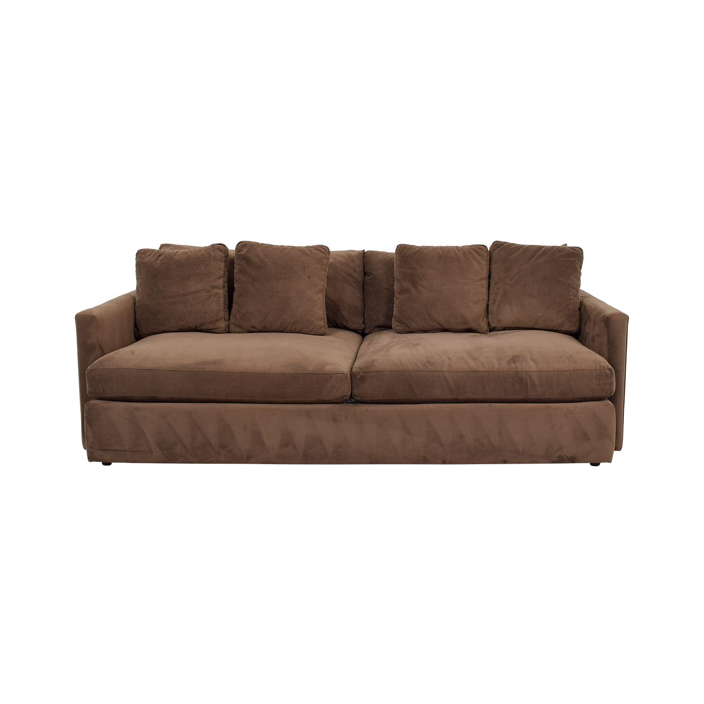 Crate & Barrel Crate & Barrel Brown Two-Cushion Sofa nj
