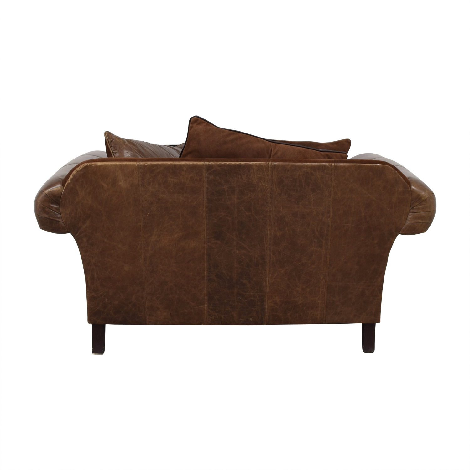 buy Bernhardt Brown Leather Nailhead Armchair Bernhardt Chairs