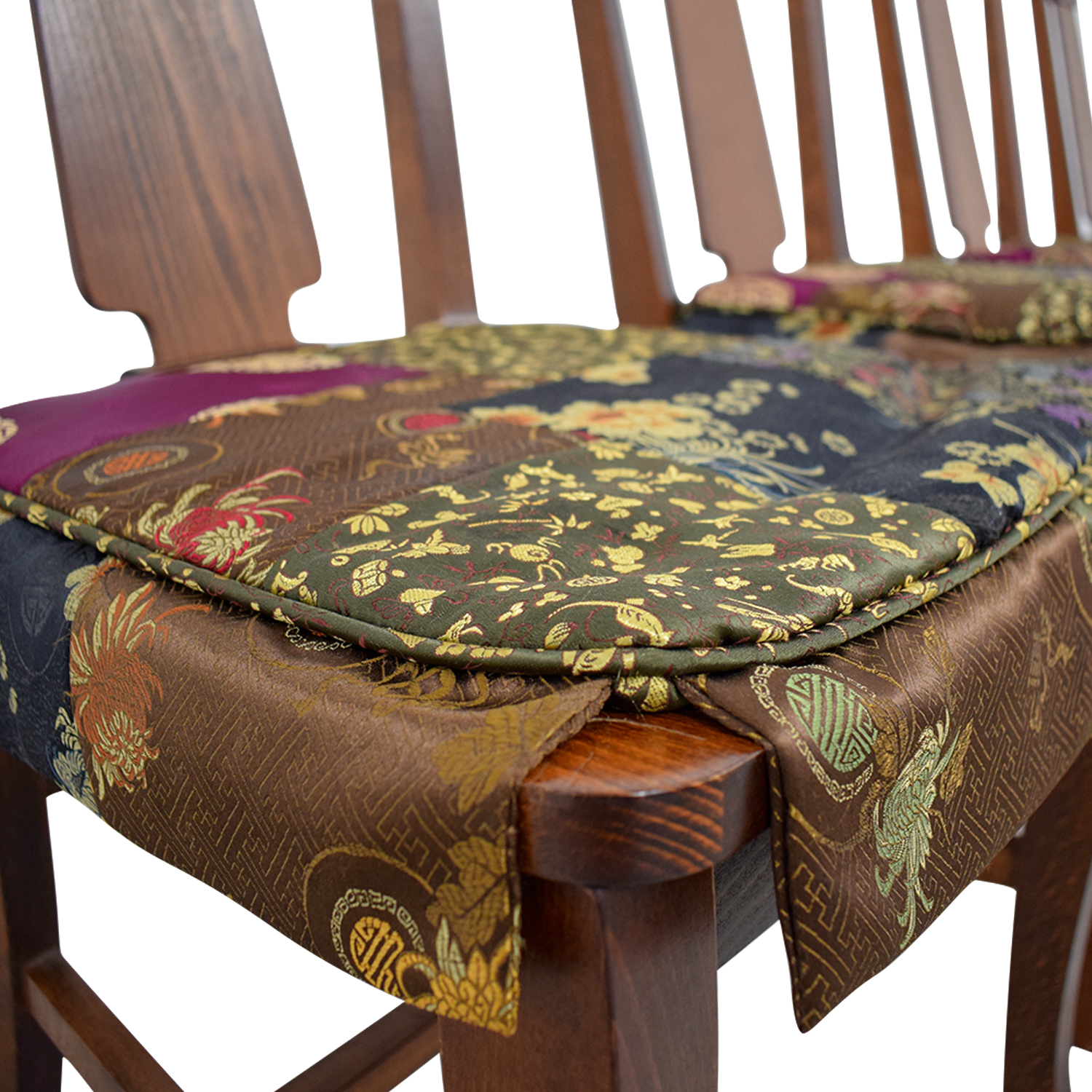 82 Off Pottery Barn Pottery Barn Loren Wood Dining Chairs With Fabric Cushions Chairs