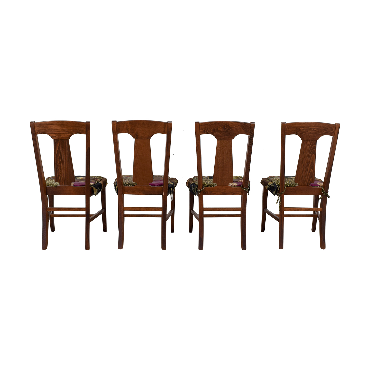 82% OFF - Pottery Barn Pottery Barn Loren Wood Dining Chairs with Fabric  Cushions / Chairs
