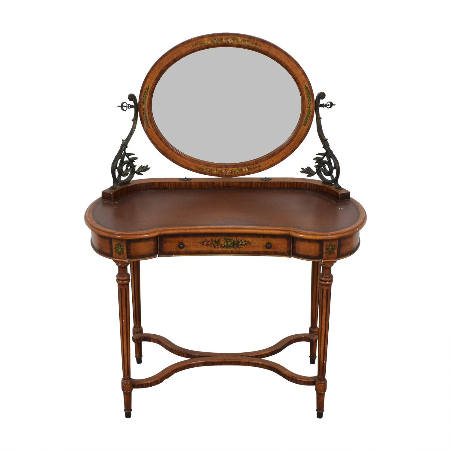 shop ABC Carpet & Home Antique Vanity with Mirror ABC Carpet & Home