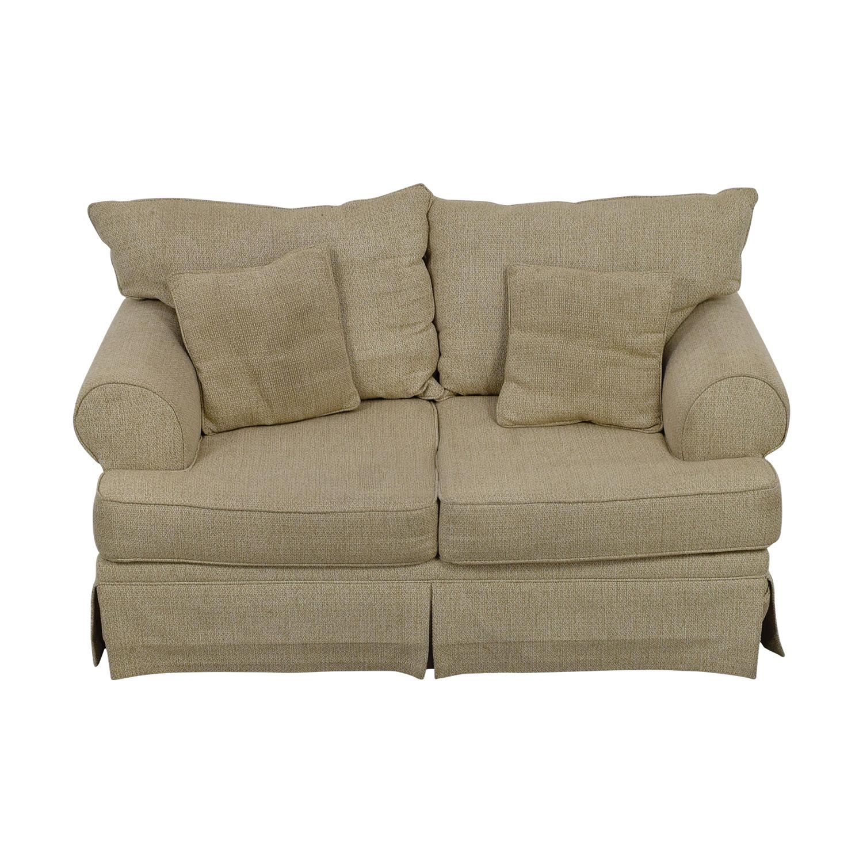shop May Furniture Stone Tweed Two-Cushion Loveseat May Furniture