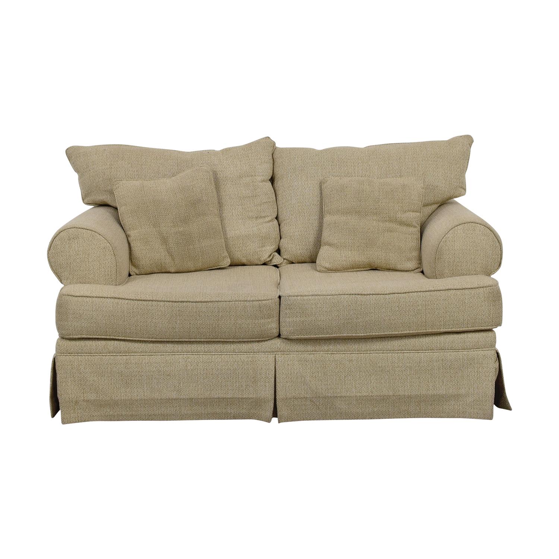 buy May Furniture Stone Tweed Two-Cushion Loveseat May Furniture