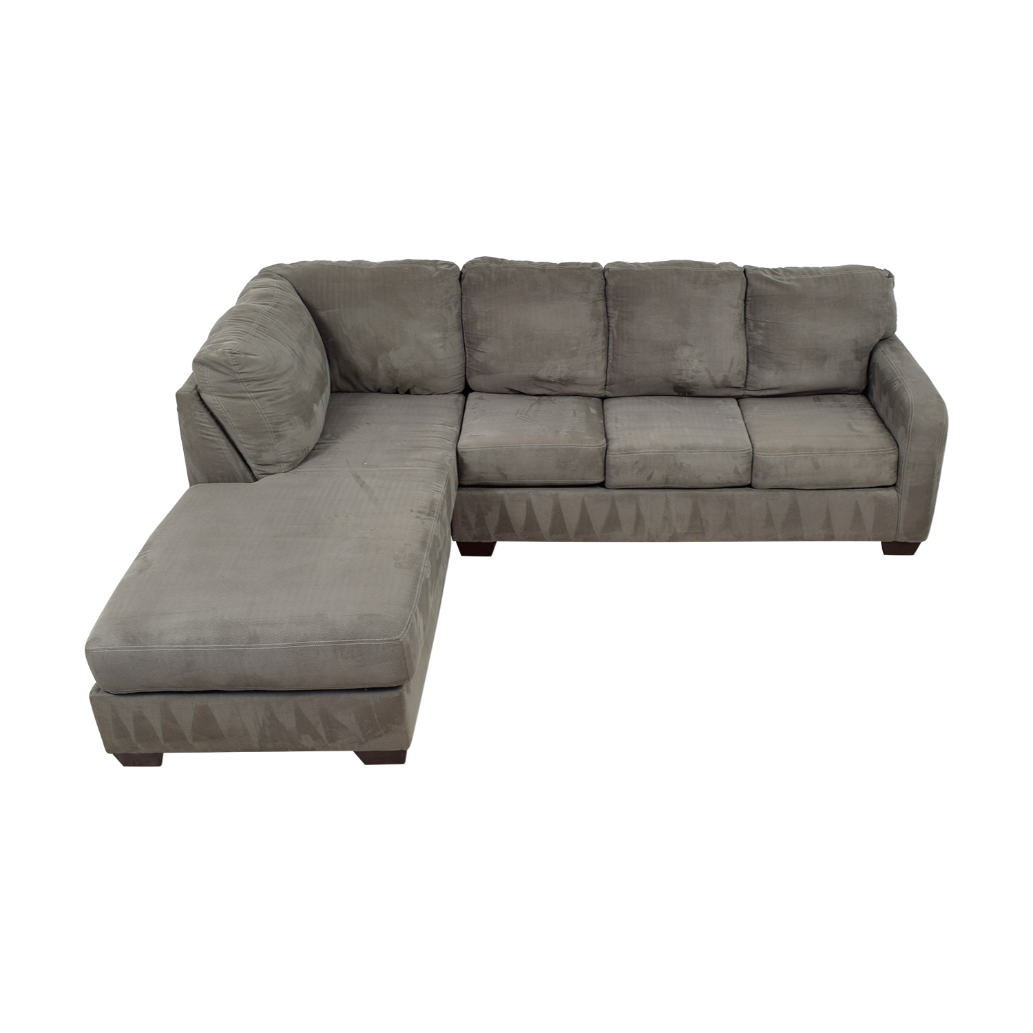 Ashley Furniture Grey Chaise Sectional sale