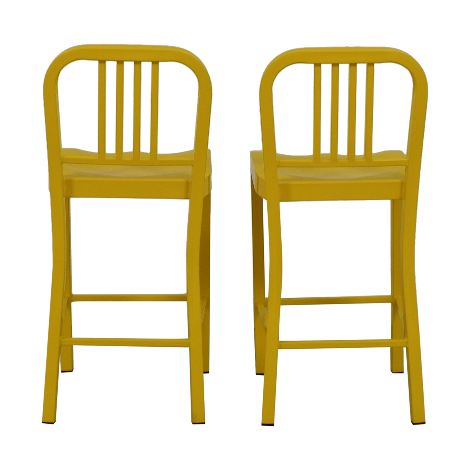 Yellow Metal Counter Stools Chairs