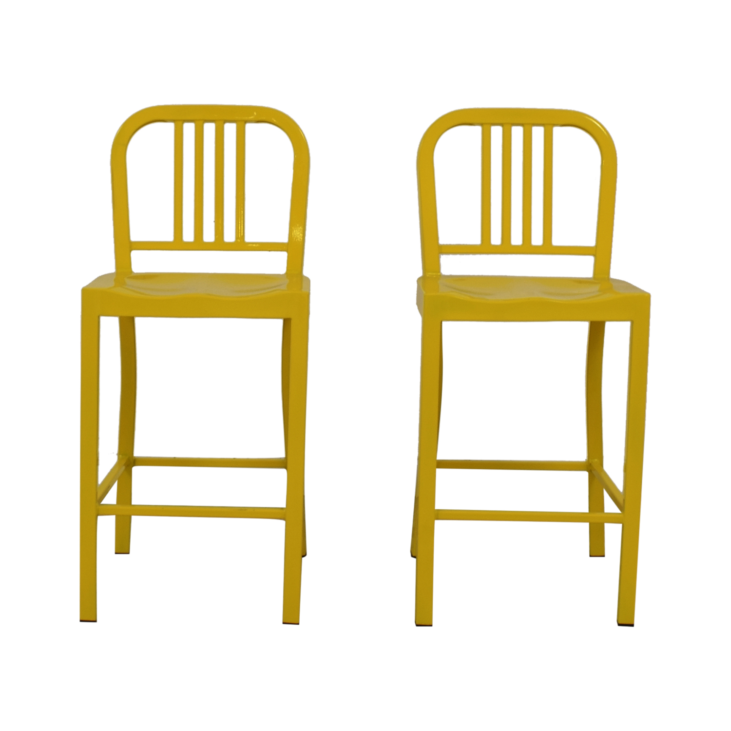 Yellow Metal Counter Stools dimensions