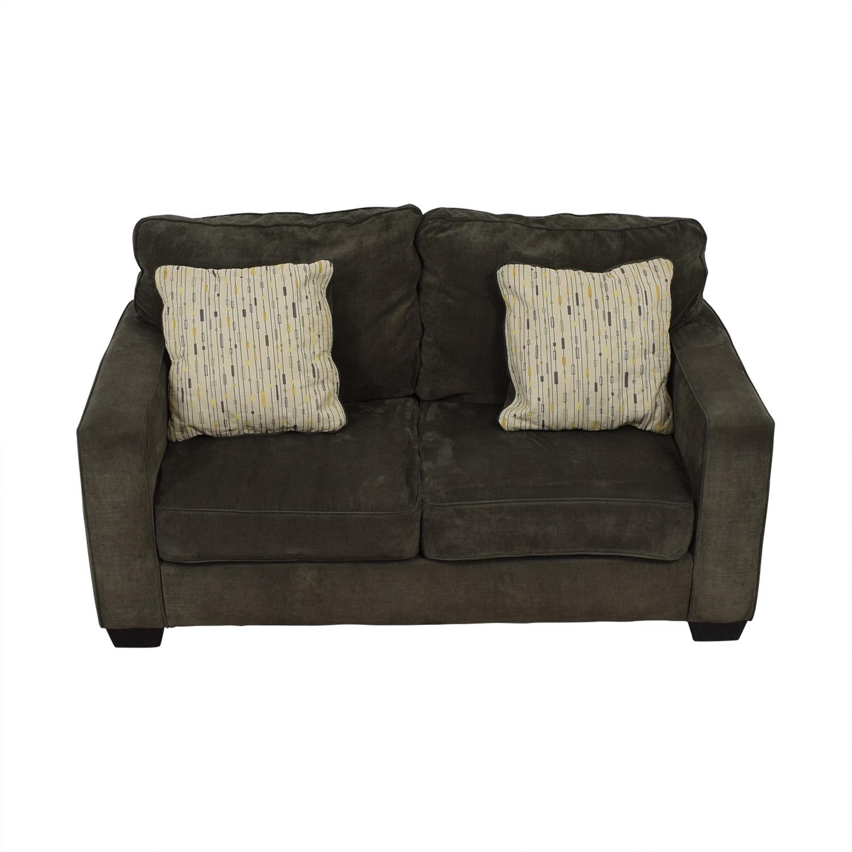 Jennifer Furniture Jennifer Furniture Hodan Grey Love Seat for sale