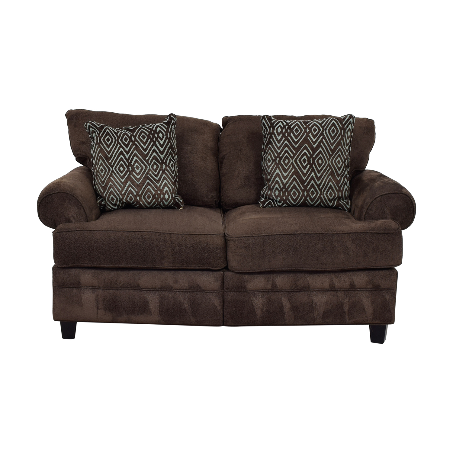 Bob's Furniture Bob's Furniture Brown Two-Cushion Love Seat second hand