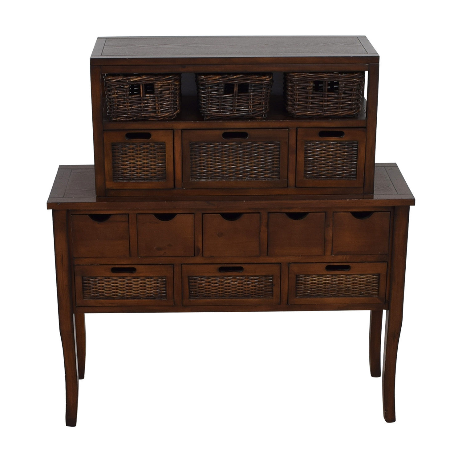 shop Pier 1 Imports Pier 1 Imports Logan Wicker Drawer Storage Console Table online