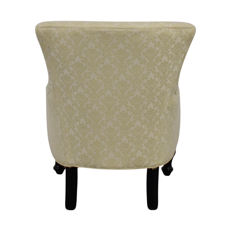 Bassett Bassett Ivory Floral Jacquard Lady's Armchair for sale