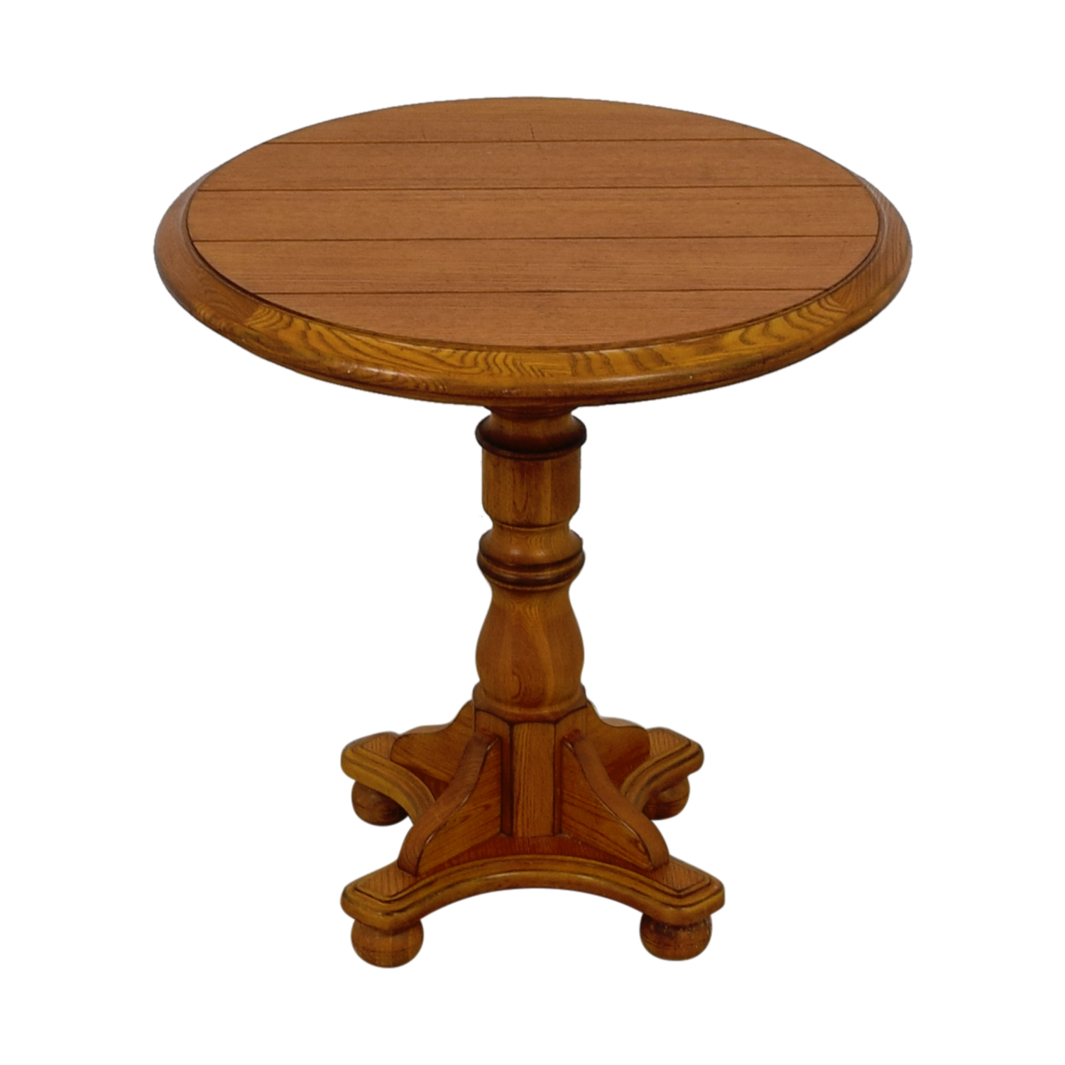 buy Oak Round Side Table  Tables