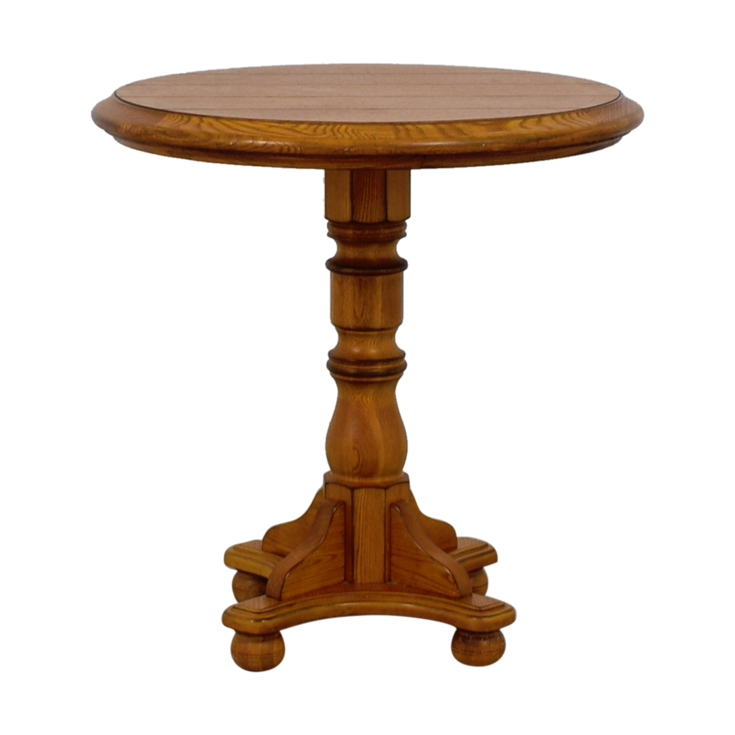 Oak Round Side Table