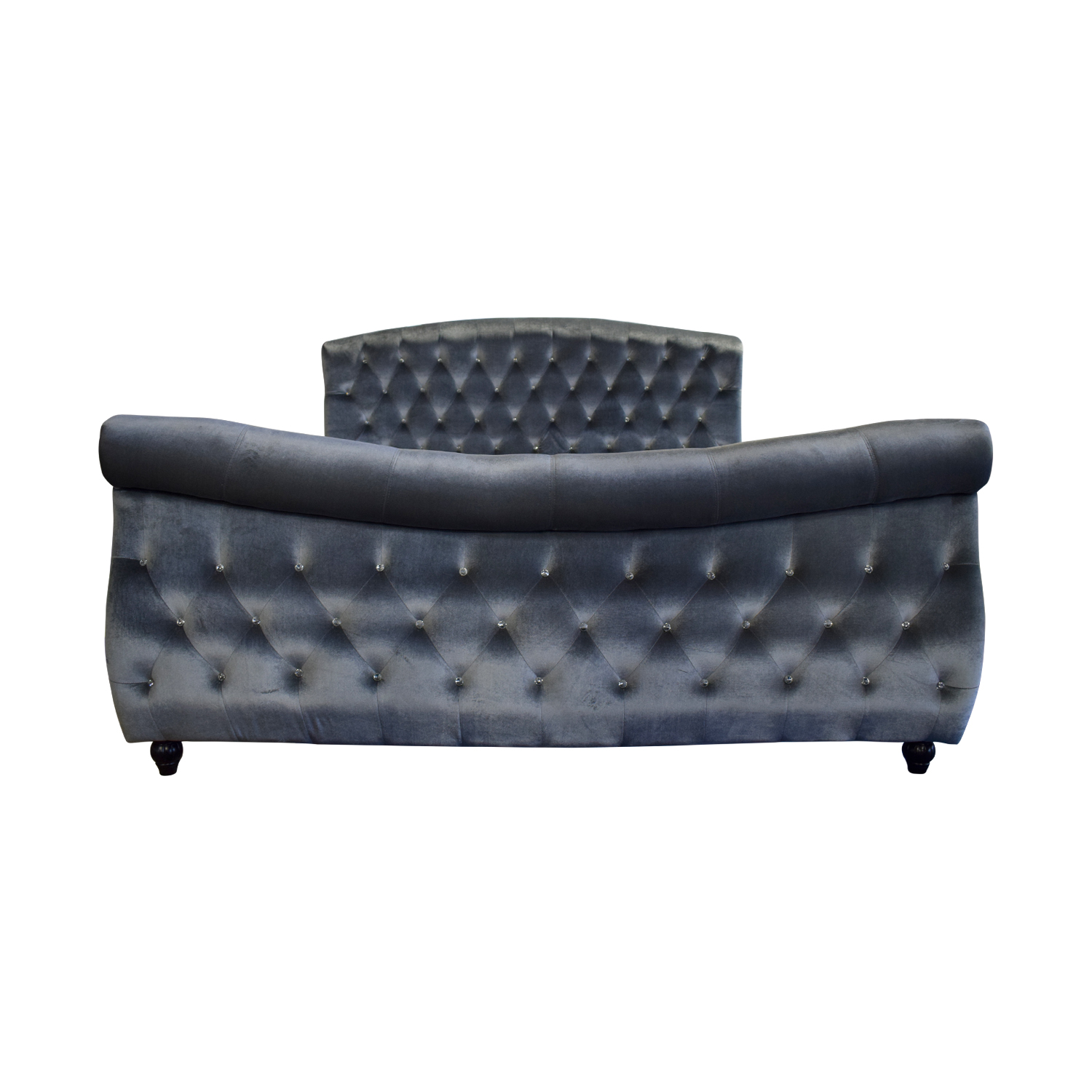 Pulaski Pulaski Grey Tufted Nailhead King Bed Frame Grey