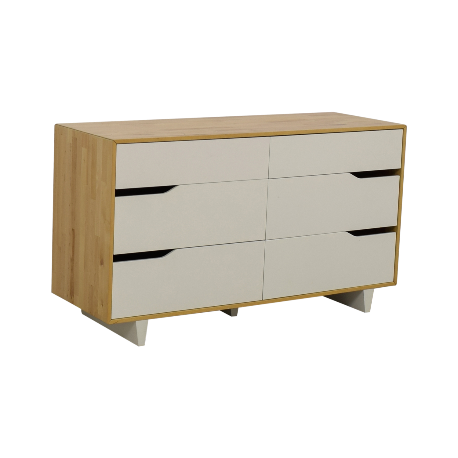51 Off Ikea Mandal White And Natural Six Drawer Dresser Storage