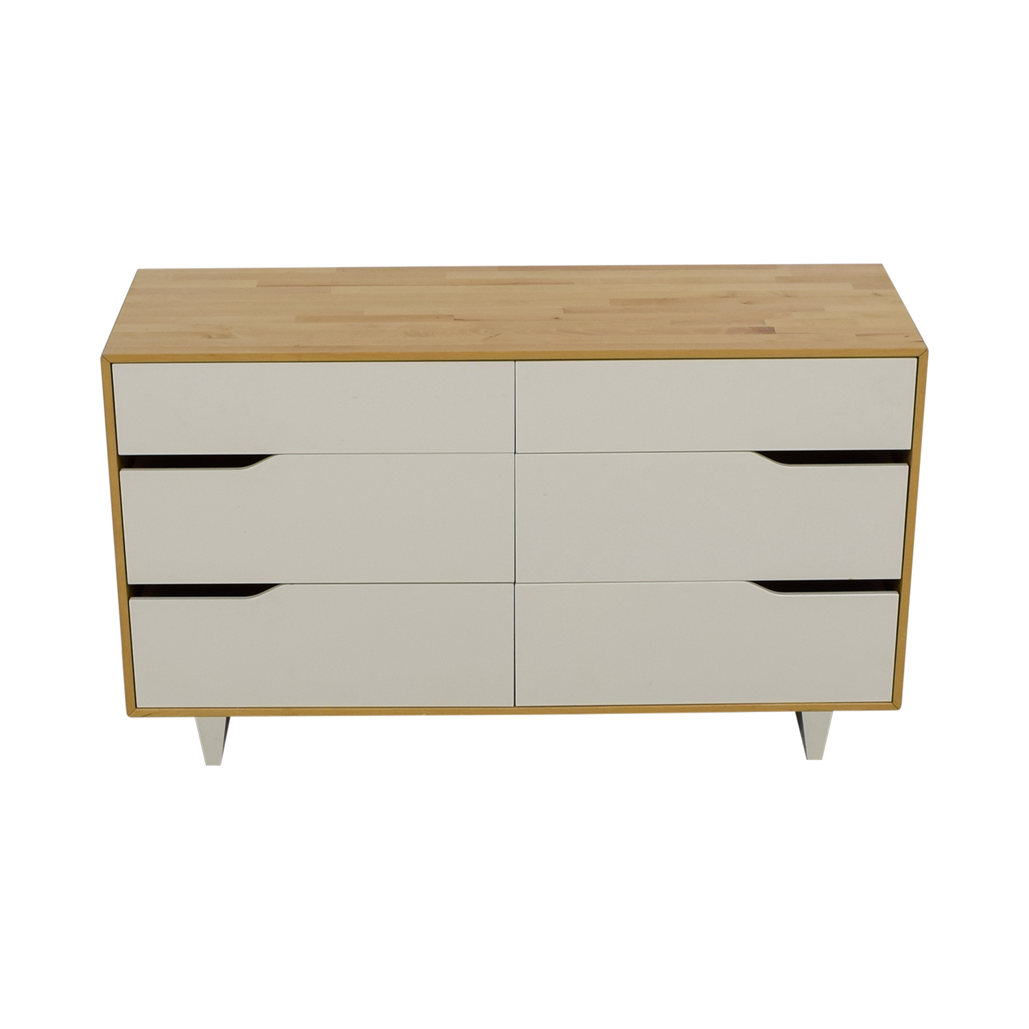 shop IKEA IKEA Mandal White and Natural Six-Drawer Dresser online
