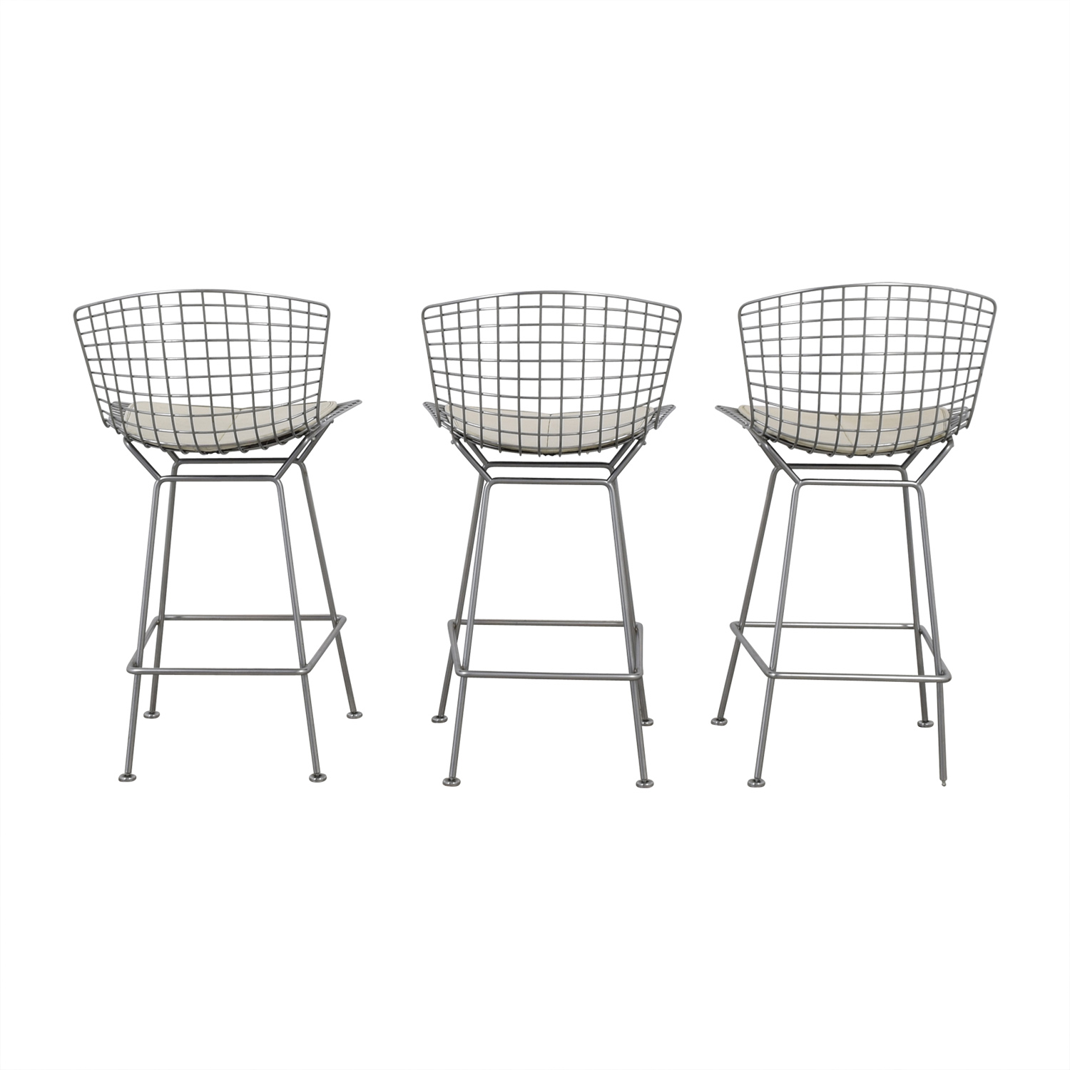 buy Bertoia-Style Chrome Wire Bar Stools  Chairs