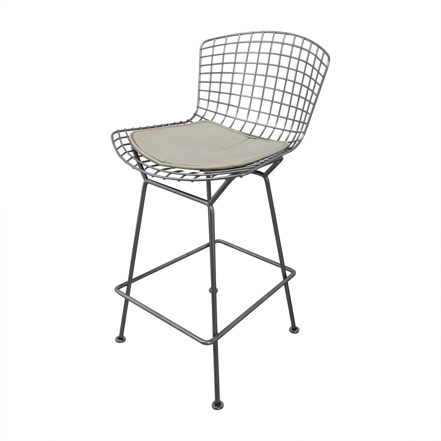 shop Bertoia-Style Chrome Wire Bar Stools  Chairs