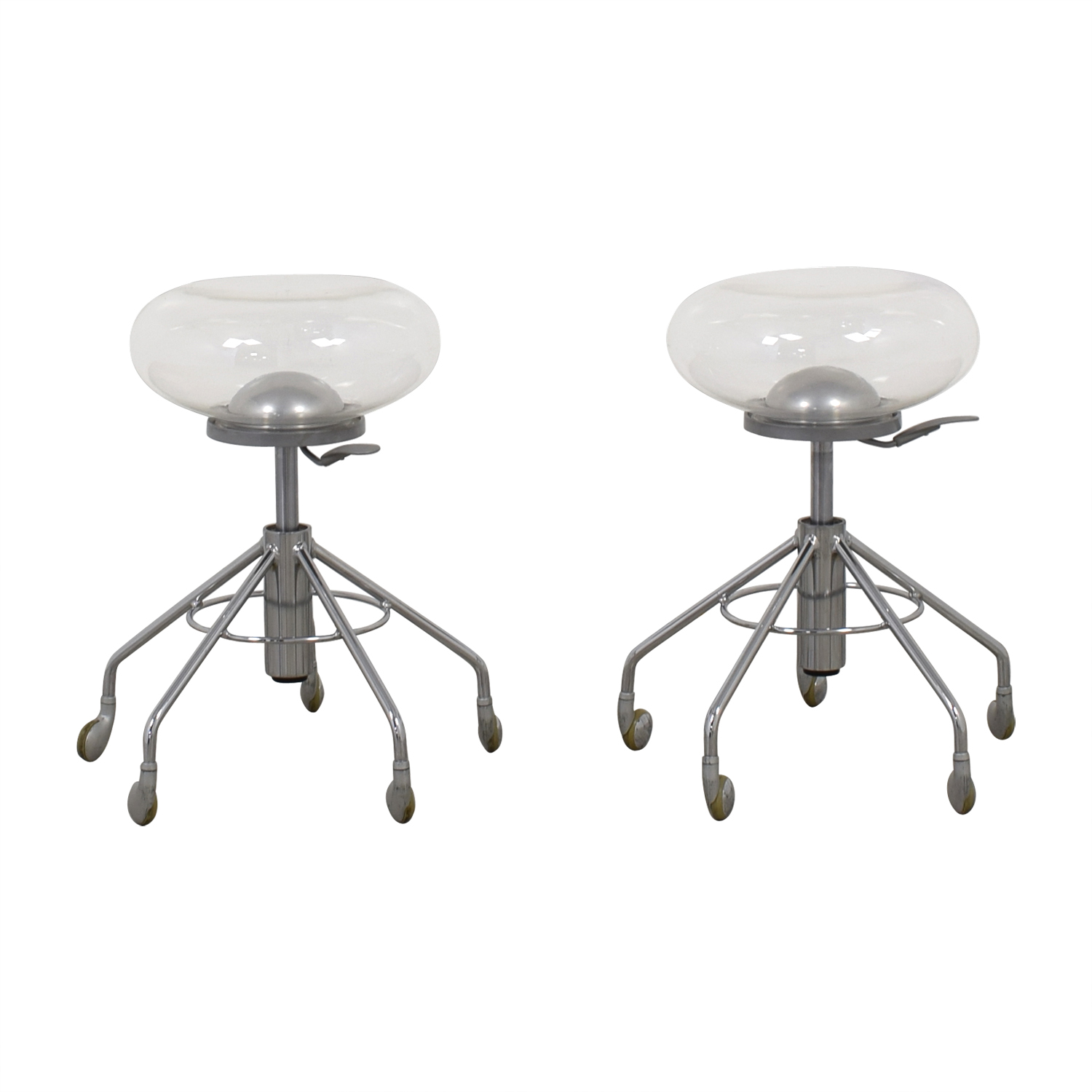 buy Archirivolto Design Delight Adjustable Chrome and Acrylic Bubble Stools Archirivolto Design Stools