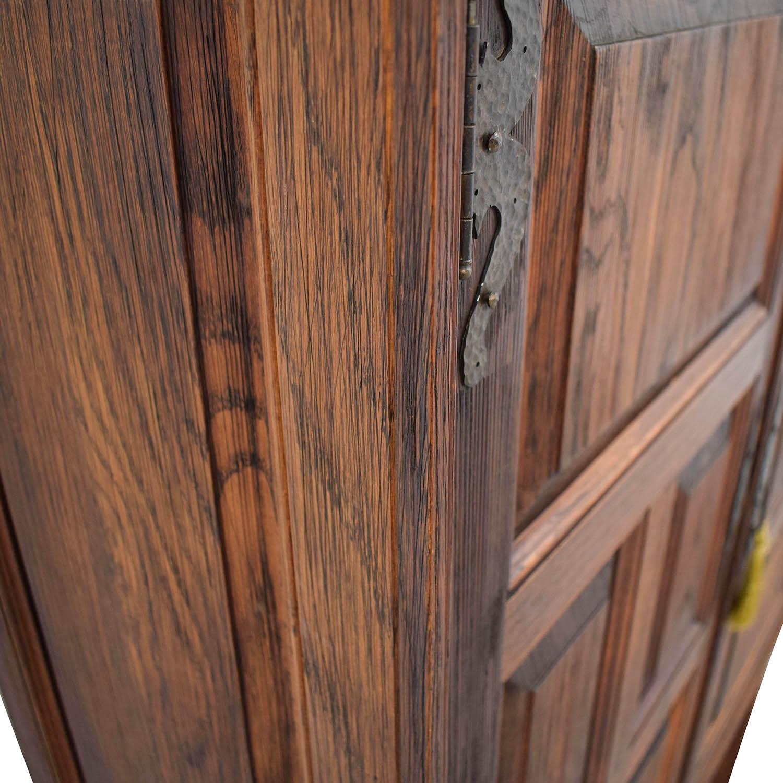 62% OFF   ABC Carpet U0026 Home ABC Carpet And Home Teak Cabinet With Shelves /  Storage