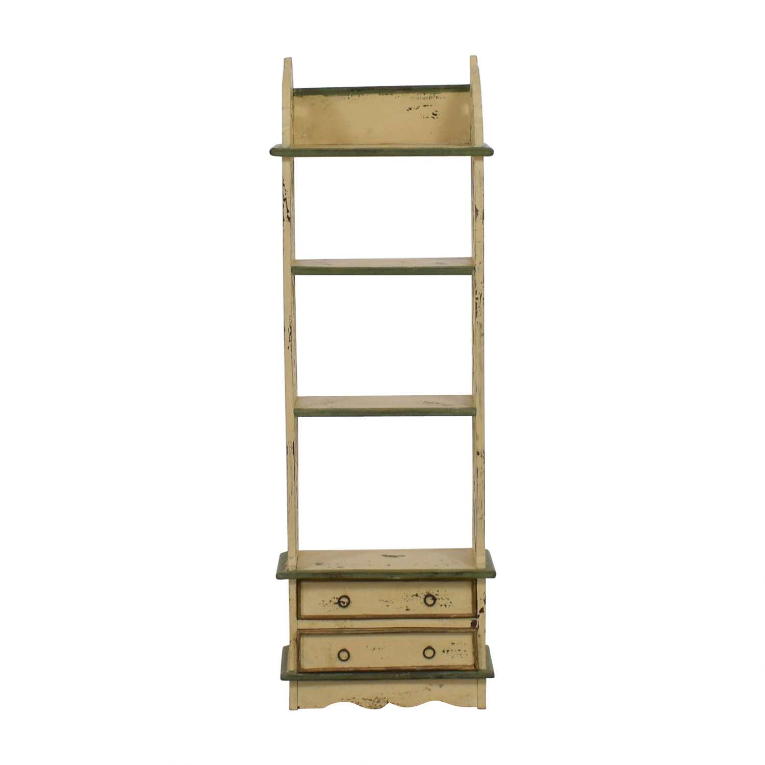 ABC Carpet and Home ABC Carpet and Home Slim Two-Drawer Shelving Unit Cream, Green