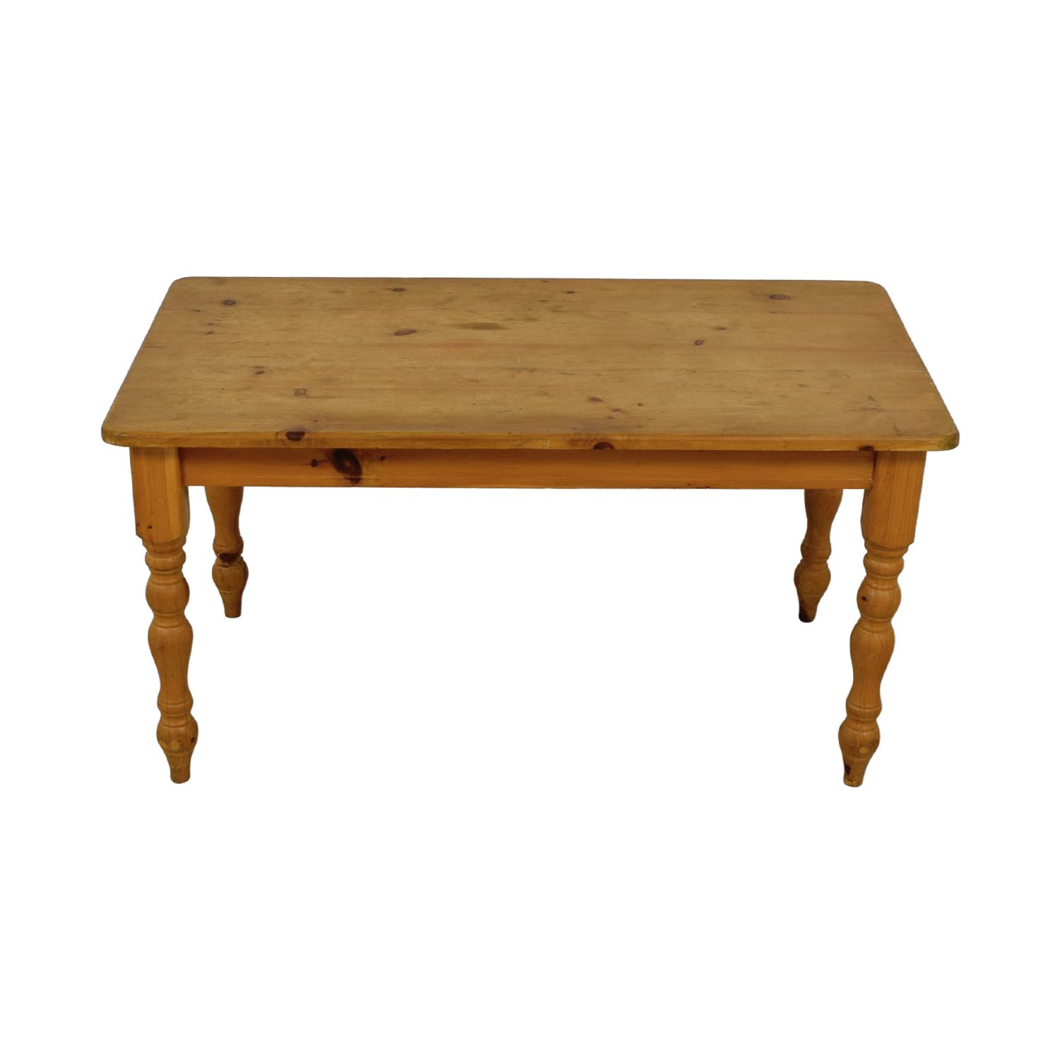 Rustic Pine Wood Farmhouse Table Beige