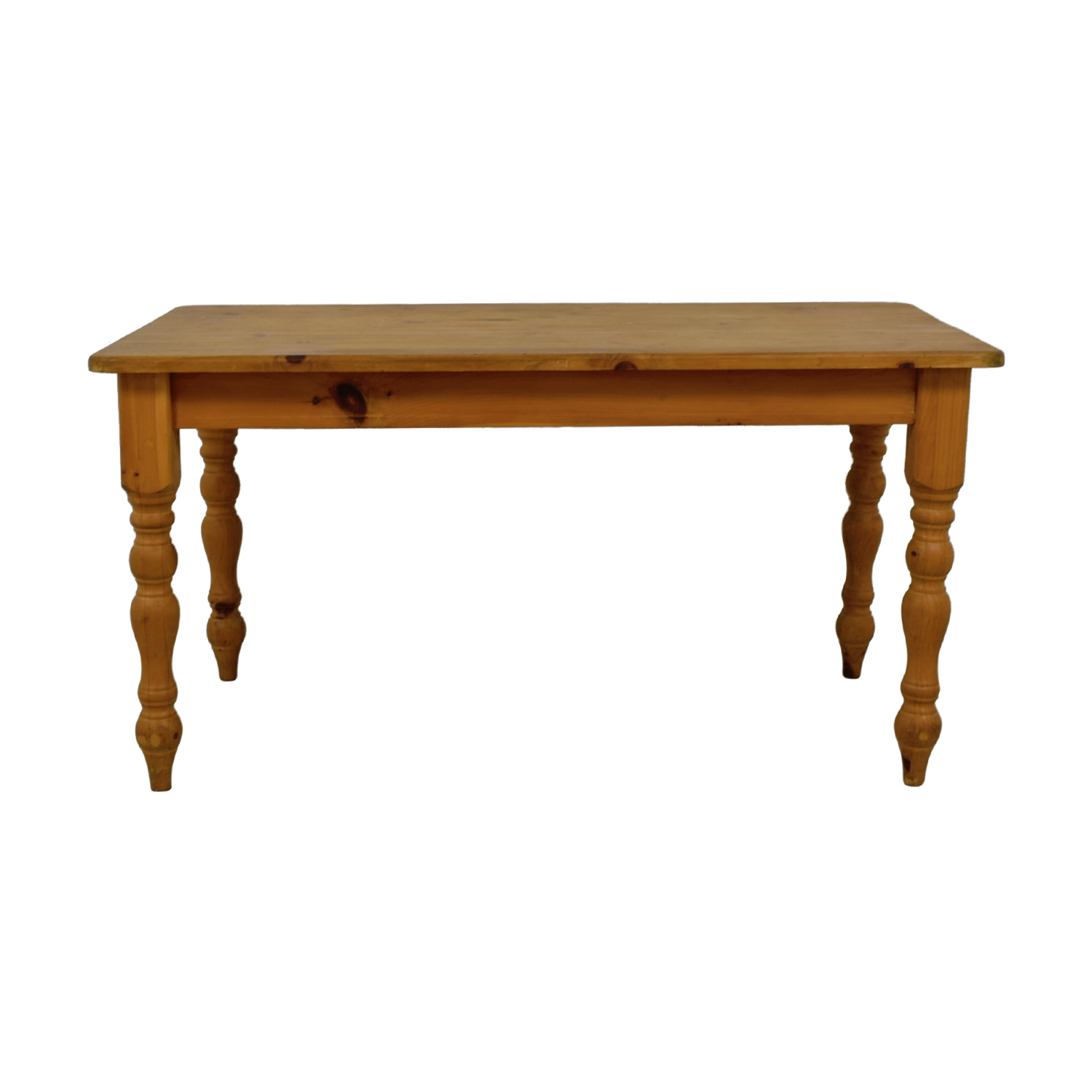 Rustic Pine Wood Farmhouse Table dimensions