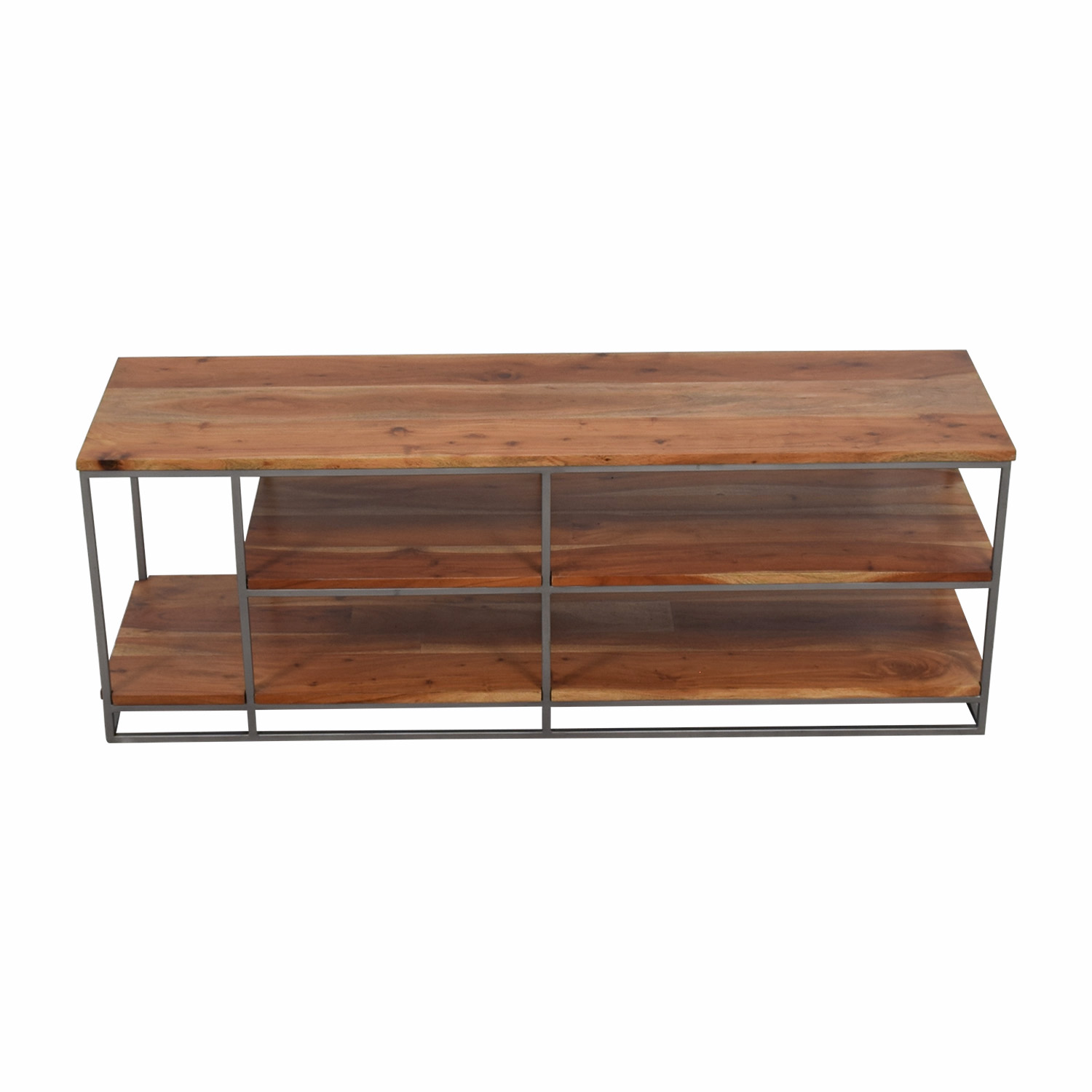 shop Crate & Barrel Crate & Barrel Wood and Wrought Iron Shelf and Media Center online