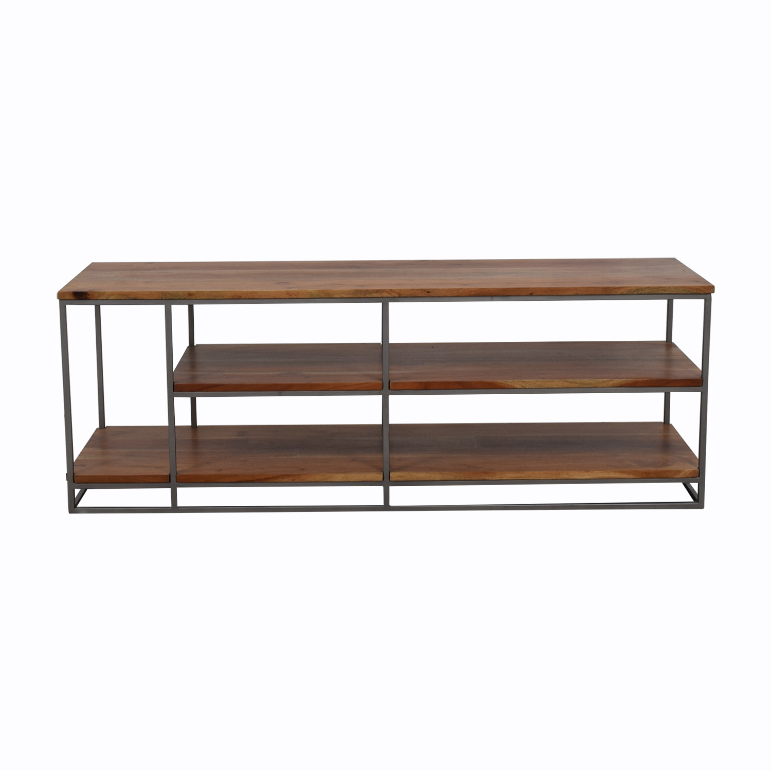 Crate & Barrel Crate & Barrel Wood and Wrought Iron Shelf and Media Center price