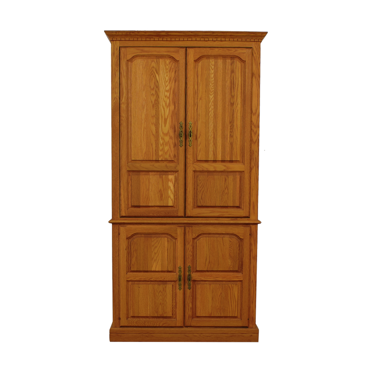 Custom TV Armoire with Drawers and Pull Out Shelves for sale