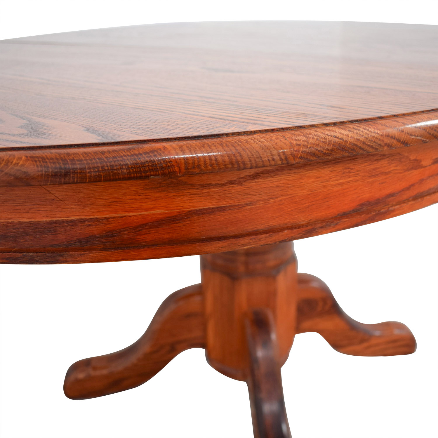 Custom Extendable Oak Round Dining Table Red Cherry