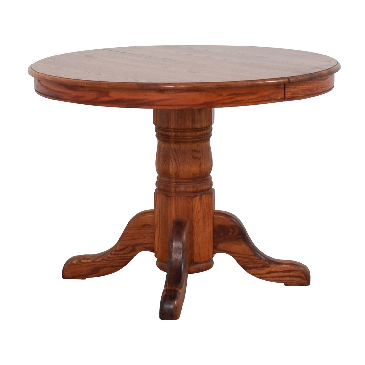 Red Round Dining Table: Custom Extendable Oak Round Dining Table / Tables