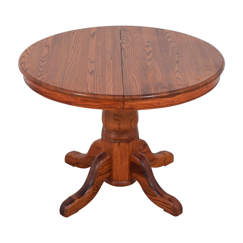 Custom Extendable Oak Round Dining Table sale