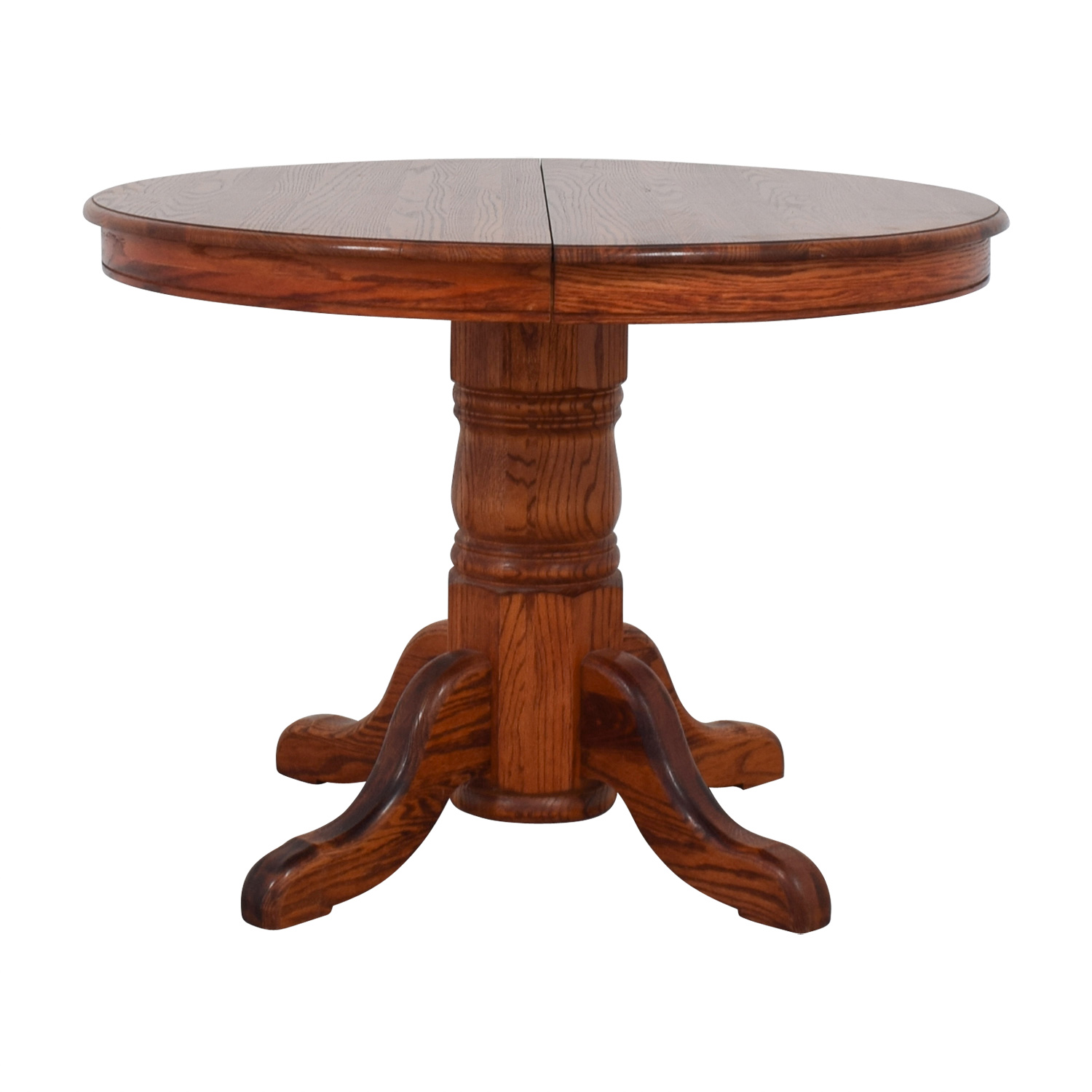 shop Custom Extendable Oak Round Dining Table  Dinner Tables