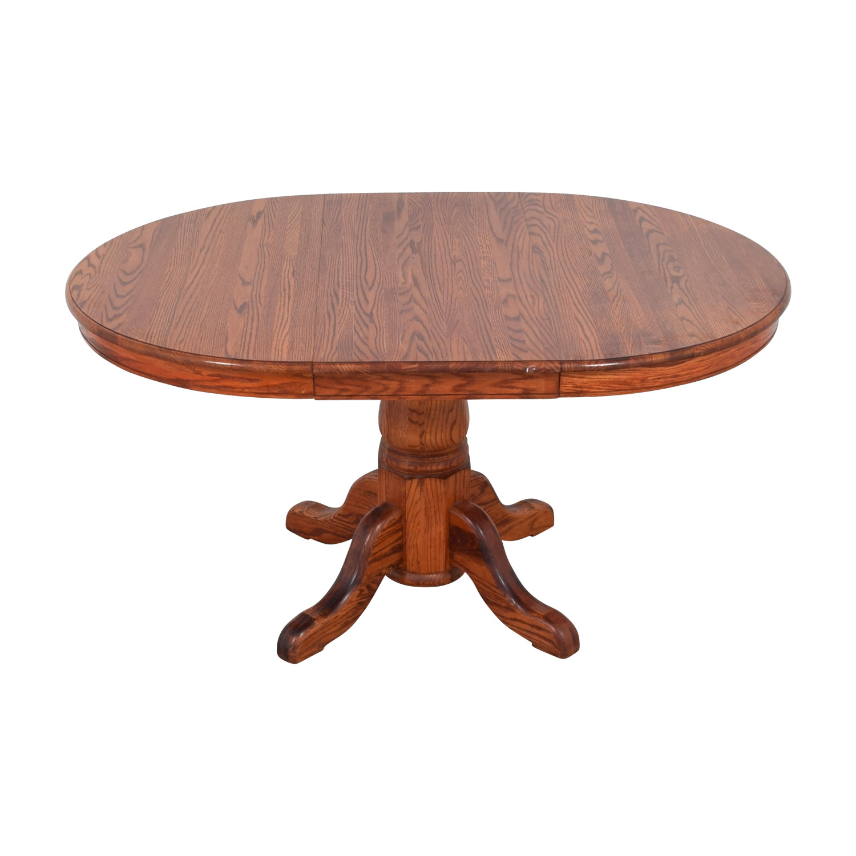 Custom Extendable Oak Round Dining Table nj