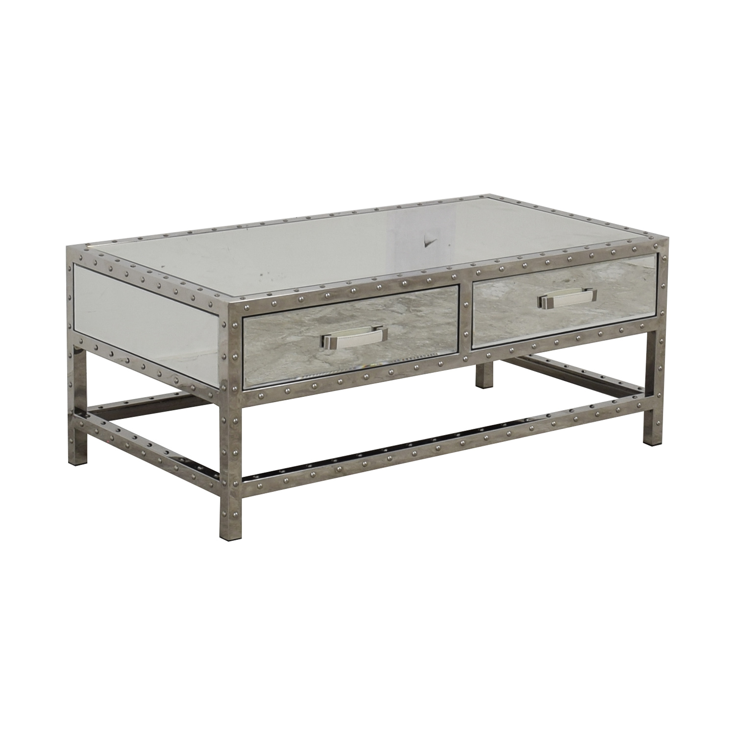 Modani Modani Valentino Mirror and Chrome Coffee Table nj