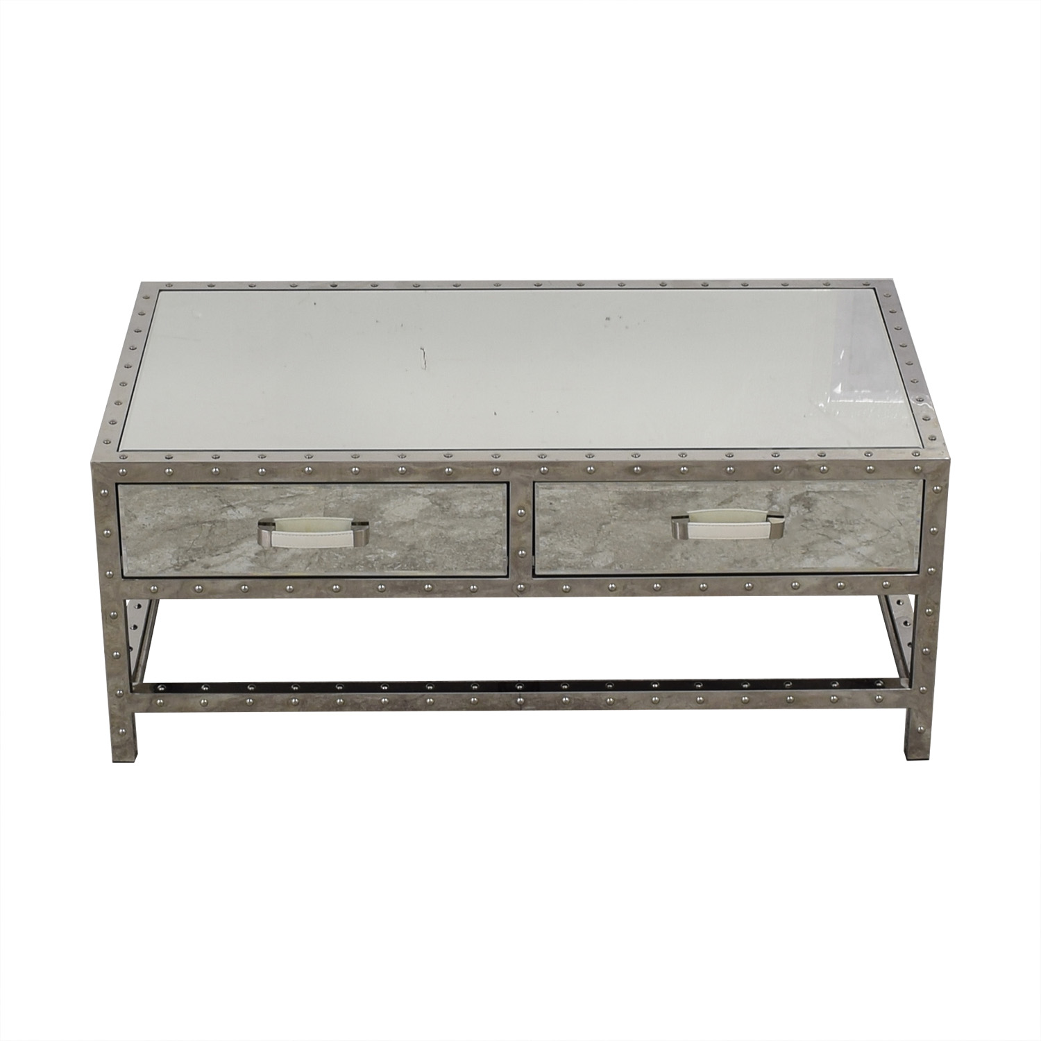 shop Modani Valentino Mirror and Chrome Coffee Table Modani Coffee Tables