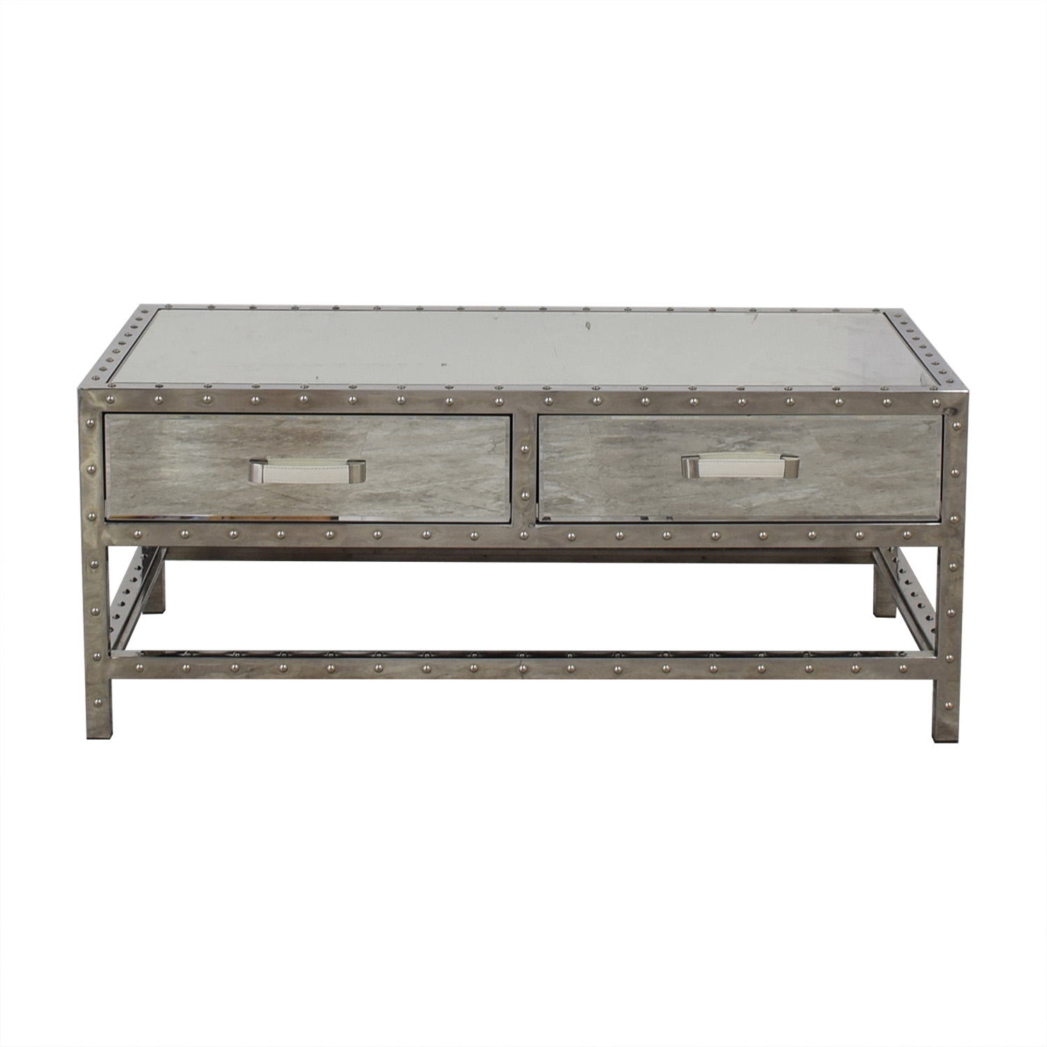 buy Modani Valentino Mirror and Chrome Coffee Table Modani Tables
