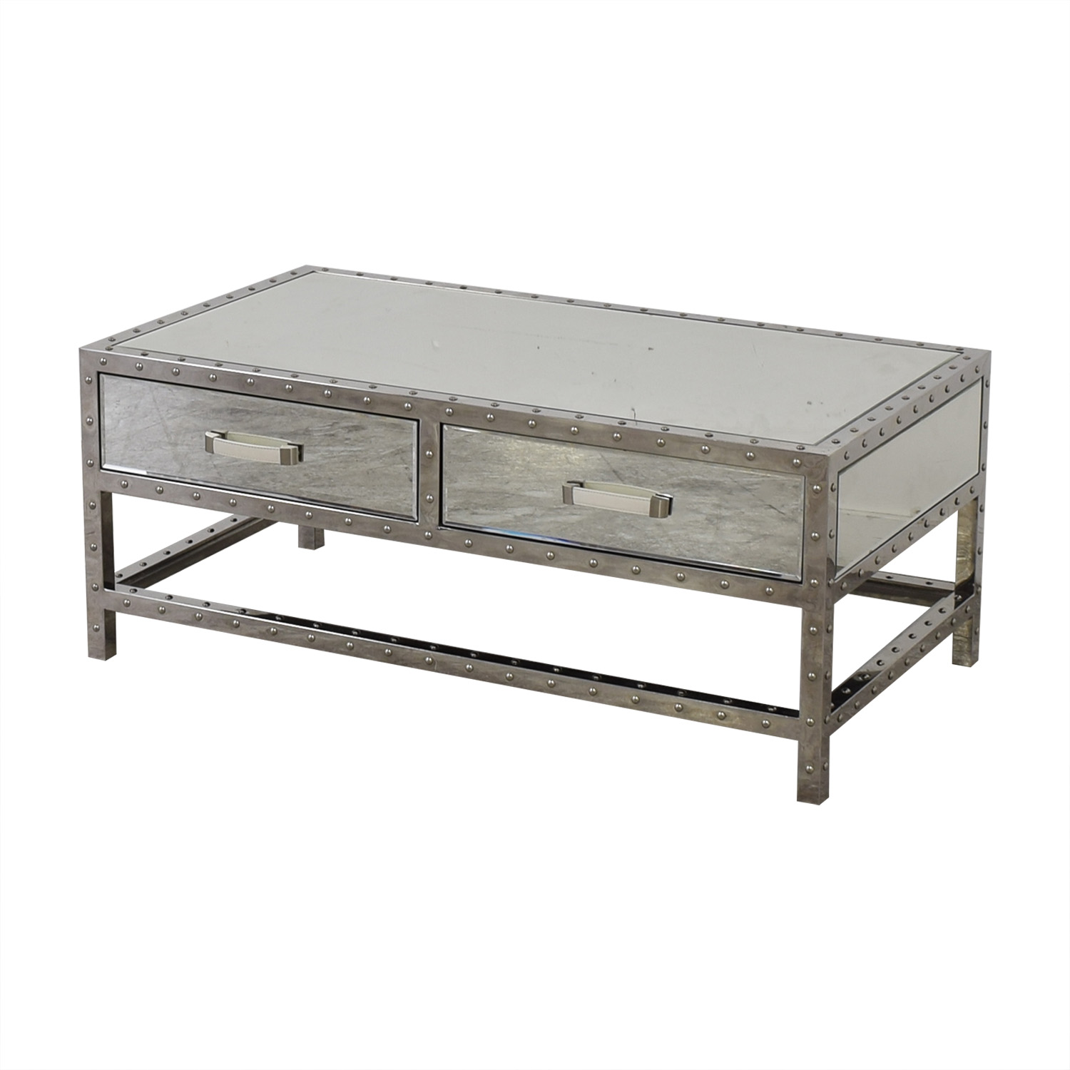 Modani Modani Valentino Mirror and Chrome Coffee Table Tables