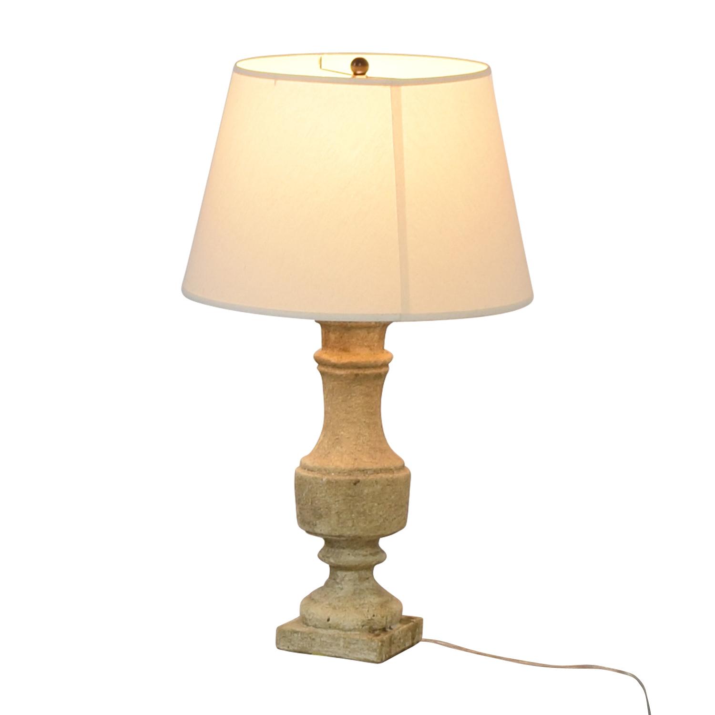Stone Table Lamp Decor