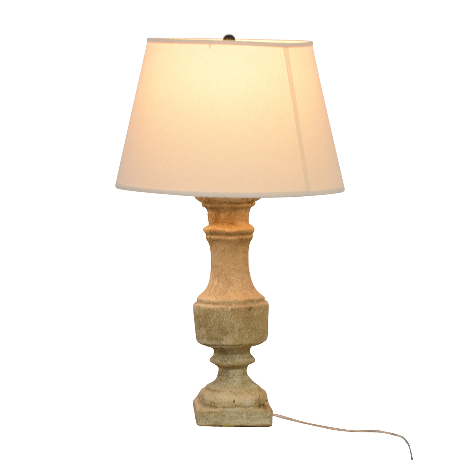 Stone Table Lamp / Decor