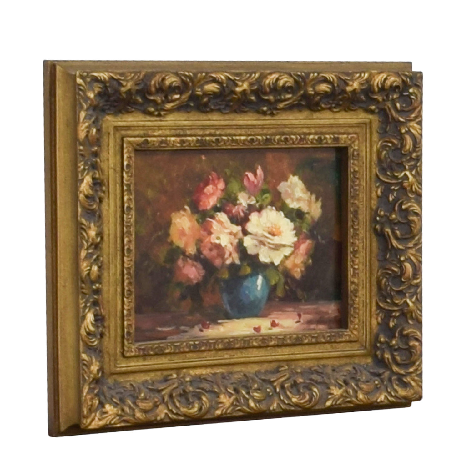 buy Timeless Treasures Signed Floral Framed Oil Painting Timeless Treasures Wall Art