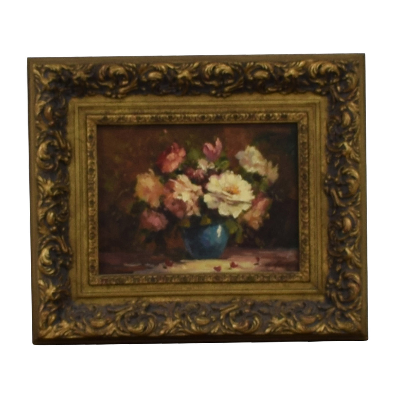 Timeless Treasures Timeless Treasures Signed Floral Framed Oil Painting nyc