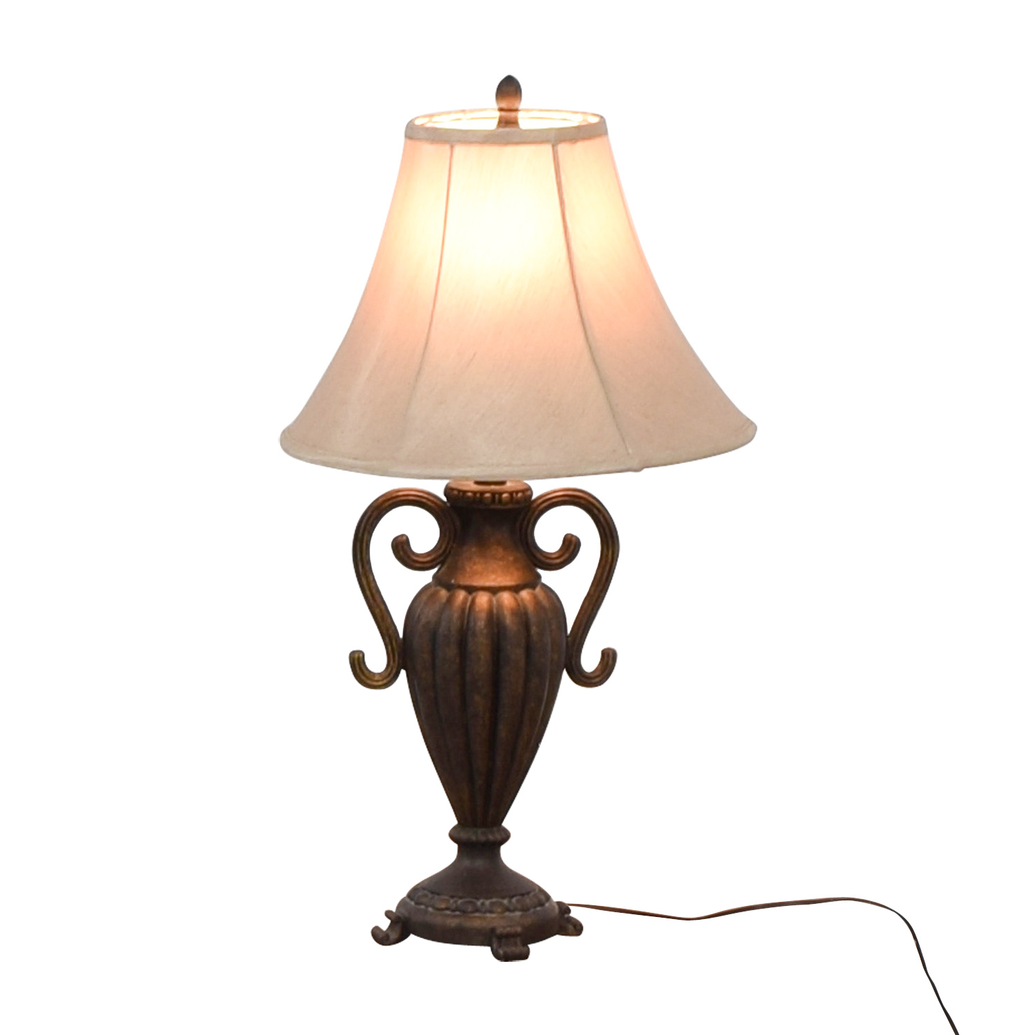 Ornate Faux Metalwork Table Lamp nyc