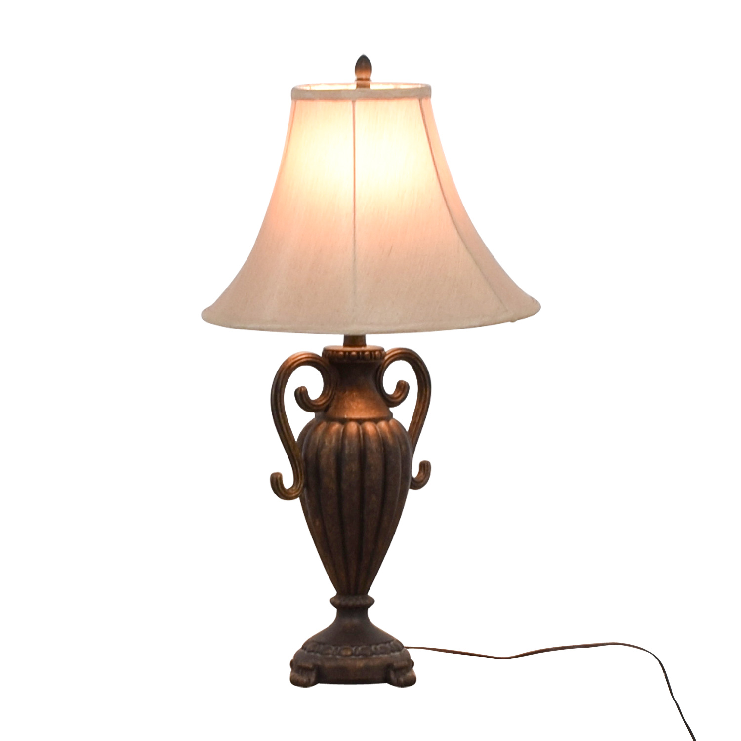 shop Ornate Faux Metalwork Table Lamp  Sofas