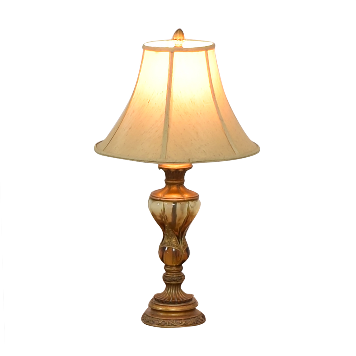 Gilded Faux Blown Glasswork Table Lamp on sale