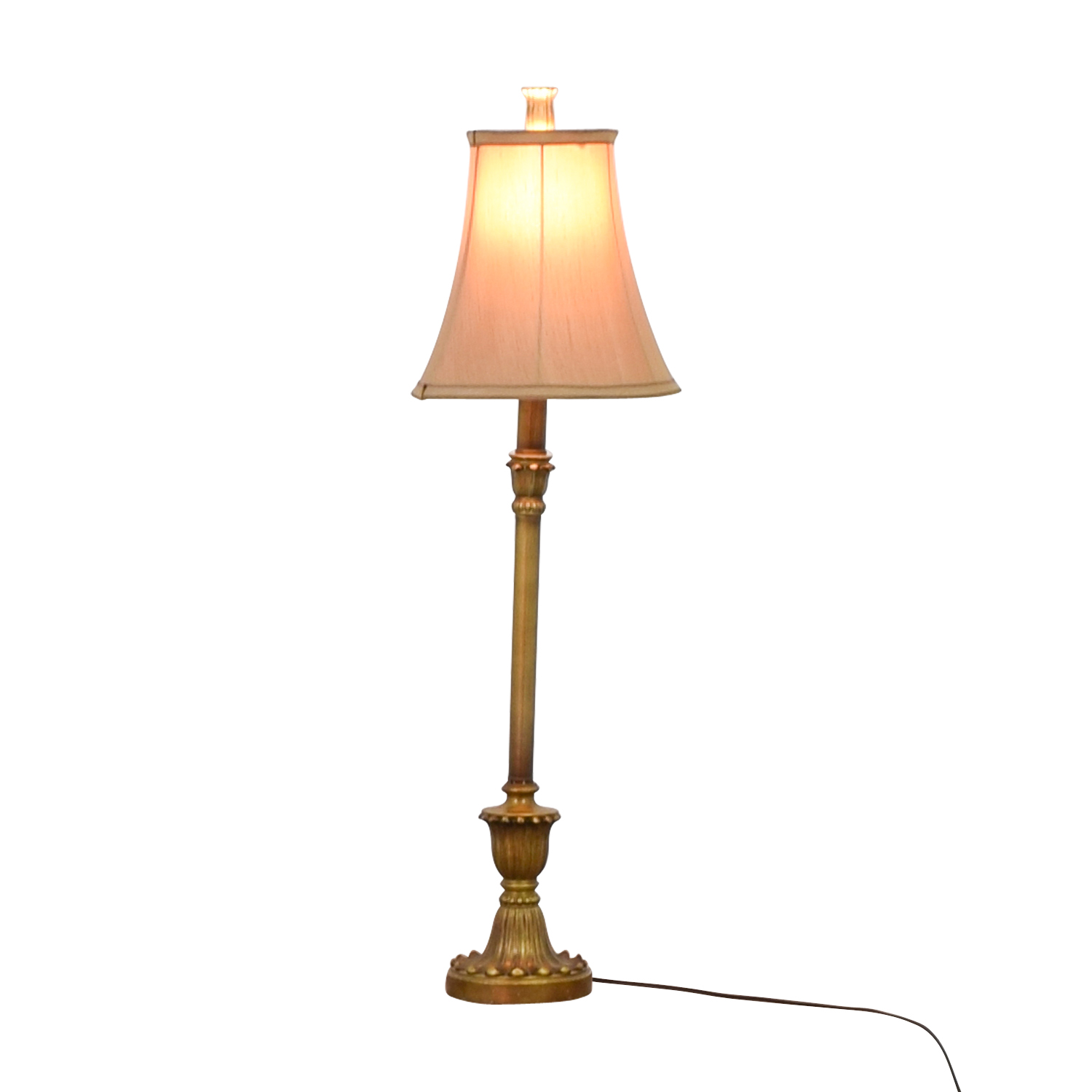 Gold Pedestal Lamp