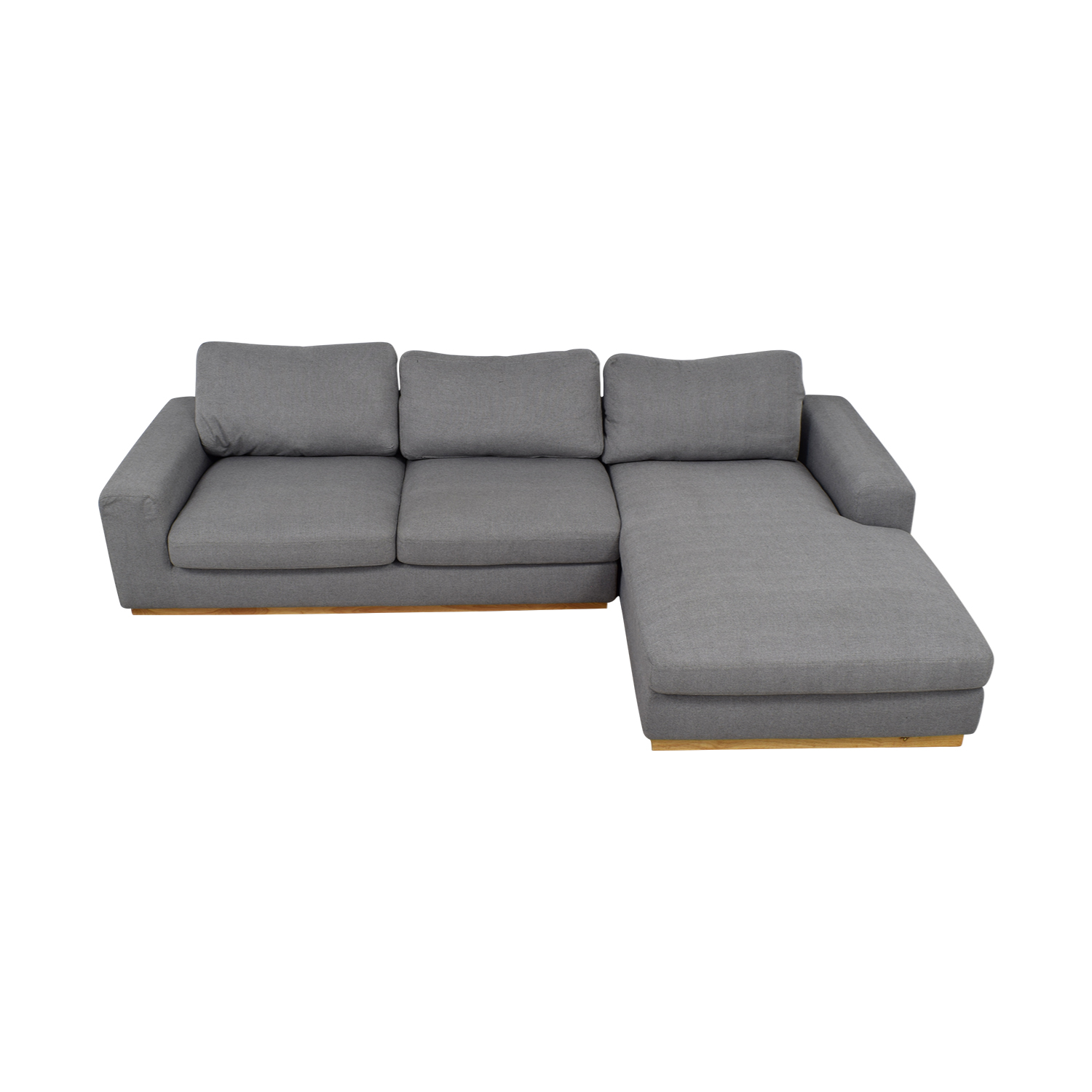 Rove Concepts Rove Concepts Noah Grey Chaise Sectional dimensions
